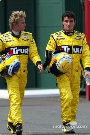 Nick Heidfeld y Giorgio Pantano