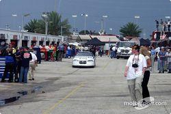 De la mauvaise météo arrive à Daytona
