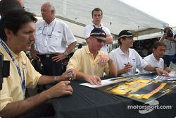 Ron Fellows, Johnny O'Connell, Oliver Gavin et Olivier Beretta