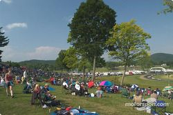 Lime Rock fans watch the race