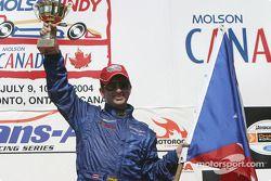 Podium: race winner Jorge Diaz Jr.