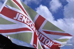 Jenson Button's flag