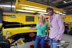 Brian McFadden and his wife Kerry McFadden with the Jordan team.
