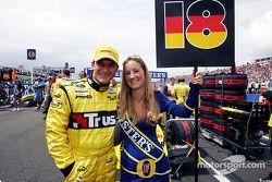 Eddie Jordan's daughter Miki was the grid girl for Nick Heidfeld
