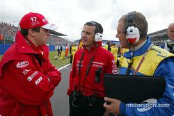 Olivier Panis and Ange Pasquali on the starting grid