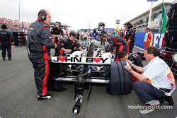 Minardi team member on the starting grid