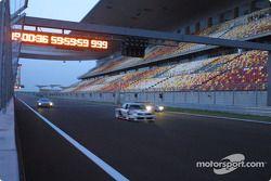 Audi Le Mans Quattro, Audi 90 IMSA-GTO and Audi R8 on the new Shanghai International Circuit