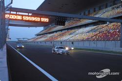 Audi Le Mans Quattro, Audi 90 IMSA-GTO und Audi R8 am Shanghai International Circuit