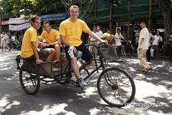Jeroen Bleekemolen, Timo Scheider and Marcel Fassler visit Shanghai
