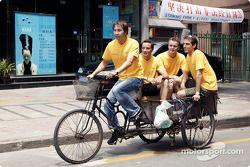 Jeroen Bleekemolen, Timo Scheider und Marcel Fässler zu Besuch in Shanghai