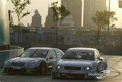 Christijan Albers, Team HWA, AMG-Mercedes C-Klasse 2004; Rinaldo Capello, Team Joest, Audi A4 DTM 20