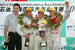 Podium: 1. Gary Paffett, Team HWA, AMG-Mercedes C-Klasse 2004; Bernd Schneider, Team HWA, AMG-Merced