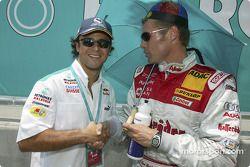 Felipe Massa und Tom Kristensen in der Startaufstellung
