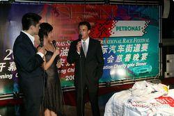 Gala DTM à l'Oriental Pearl Tower : Jean Alesi