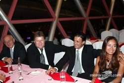 DTM Gala in Oriental Pearl Tower: Norbert Haug, Jean Alesi and his wife Kumiko