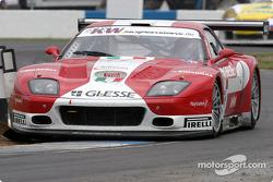 La Ferrari 575 M Maranello n°11 de G.P.C. Giesse Squadra Corse (Fabio Babini, Philipp Peter)