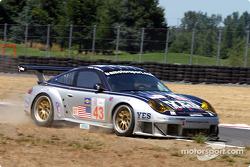 #43 BAM! Porsche 911 GT3 RSR: Leo Hindery, Lucas Luhr, Sascha Maassen has an off track excursion