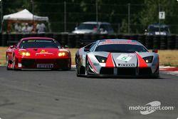 #5 Krohn Barbour Racing Lamborghini Murcielago R-GT: David Brabham, Peter Kox and #35 Risi Competizi