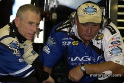 Mark Martin et son chef-mécanicien Pat Tryson