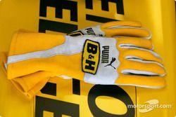 Les gants de Nick Heidfeld