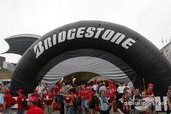 Bridgestone padok area