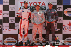 Podium: race winner Jon Fogarty with Andrew Ranger and Ronnie Bremer
