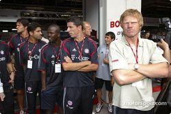 Les joueurs du Bayern Münich visitent le DTM