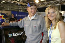 Mattias Ekström et la chanteuse Ana Johnsson