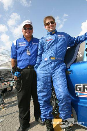 Jorge Diaz Jr. avec son père