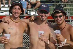 Des fans heureux à Trois-Rivières