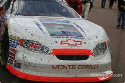Close up of the n°46 RickBroome.com Chevrolet after the race