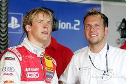 Mattias Ekström et l'ingénieur de course Alex Stehlig