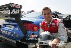 Rommy Ackermann avant son tour dans l'Audi race taxi