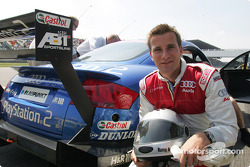 Rommy Ackermann before his ride in the Audi race taxi