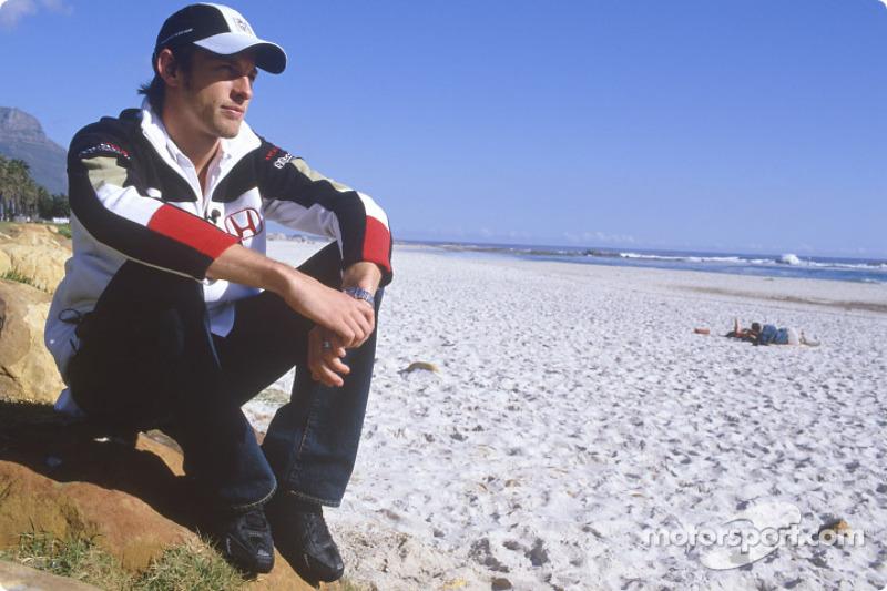 Jenson Button, beach