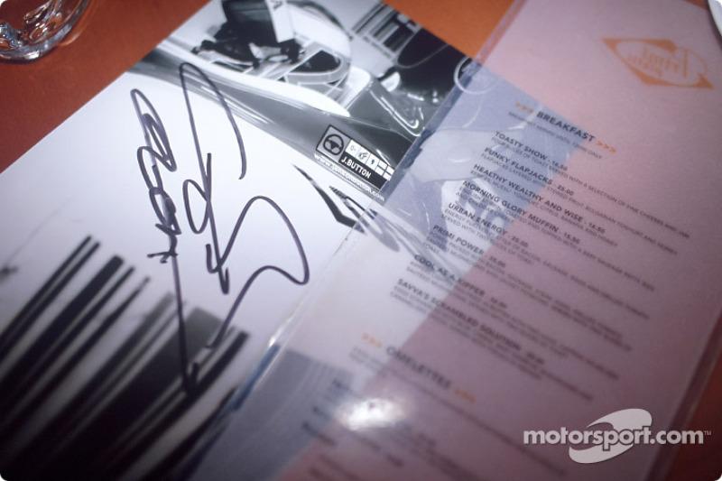 Jenson Button'in autograph
