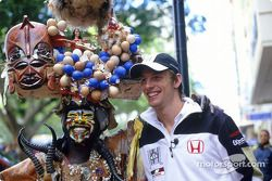 Jenson Button enjoys local celebrations