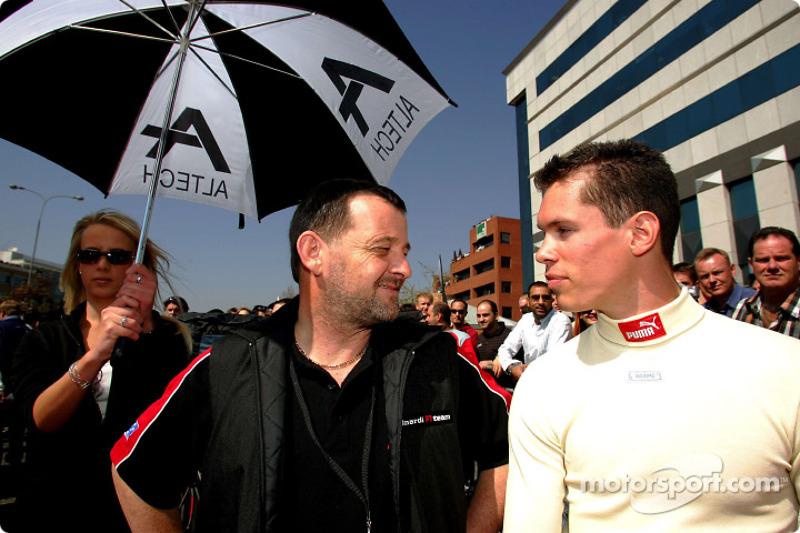 Minardi F1x2 in Johannesburg: Paul Stoddart and Alan van der Merwe