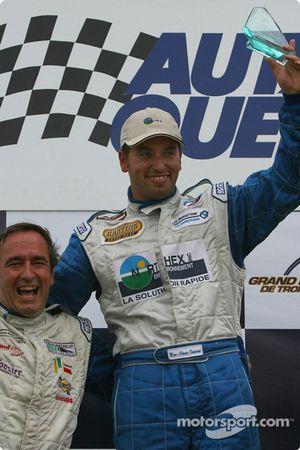 Podium GTO : le vainqueur Marc-Antoine Camiret avec Normet Guindon