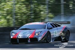 La Lamborghini Murcielago R-GT n°6 du Krohn Barbour Racing (Tracy Krohn, Nic Jonsson) a un problème