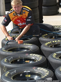 Tires being setup for the Motorcraft Ford