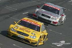 Jarek Janis, Team Rosberg, AMG-Mercedes CLK-DTM 2003; Emanuele Pirro, Team Joest, Audi A4 DTM 2004