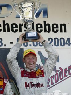 Podium: race winner Tom Kristensen