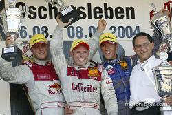 Podium: race winner Tom Kristensen with Martin Tomczyk, Manuel Reuter and Hans-Jürgen Abt