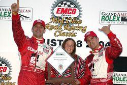 Podium: race winners Max Papis and Scott Pruett
