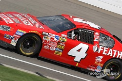 Jimmy Spencer reaches out for some cool air during a yellow flag
