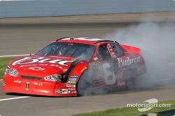 Dale Earnhardt Jr. ends the race under caution