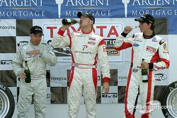 Podium: champagne for Ryan Dalziel, Jon Fogarty and Andrew Ranger