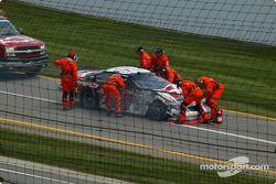 Jason Leffler wrecked car
