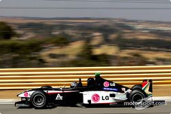 Toni Vilander drives the Minardi F1x2